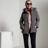 Anne Weyburn Short Hooded Zip-Up Parka
