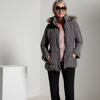 Anne Weyburn Short Hooded Zip-Up Parka