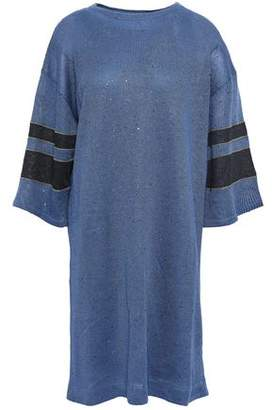 Brunello Cucinelli Striped Sequined Linen And Silk-blend Dress