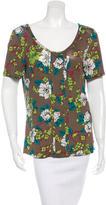 Etro Floral Print Short Sleeve Top