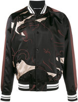 Valentino panther print bomber jacket - men - Cotton/Polyester/Viscose - 46