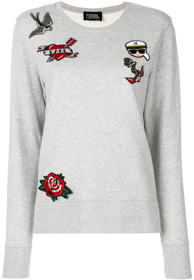 Karl Lagerfeld Captain patches sweatshirt