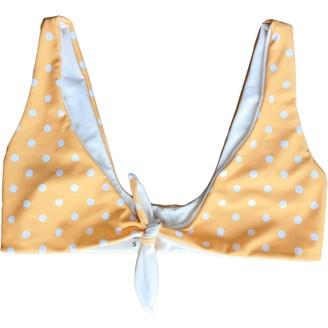 Tularosa Yellow Cotton - elasthane Swimwear for Women