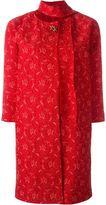 Ermanno Scervino brooch lace coat - women - Polyamide/Polyester/Spandex/Elastane/Viscose - 38