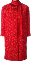 Ermanno Scervino brooch lace coat - women - Polyamide/Viscose/Polyester/Spandex/Elastane - 38