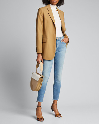 Mother The Stunner Zip Ankle Fray Jeans