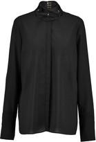 Just Cavalli Stretch-chiffon blouse