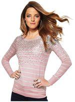 Elle TM striped embellished sweater