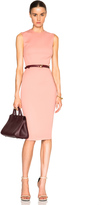 Victoria Beckham Microbrush Sleeveless Fitted Dress with Belt