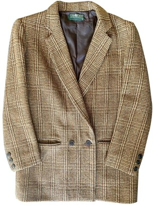 Country Road Brown Wool Jacket for Women Vintage