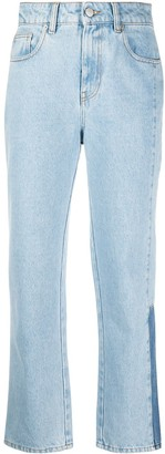 McQ High-Waisted Straight Leg Jeans