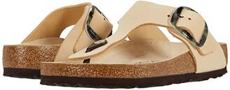Birkenstock Gizeh Torty Big Buckle (Almond Nubuck) Women's Shoes