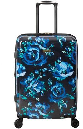 "Isaac Mizrahi Live! Inez 26"" 8-Wheel Hardside Spinner- Blue Floral"