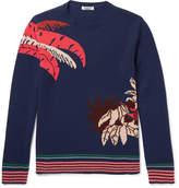 Valentino - Banana Leaf Intarsia Cashmere Sweater