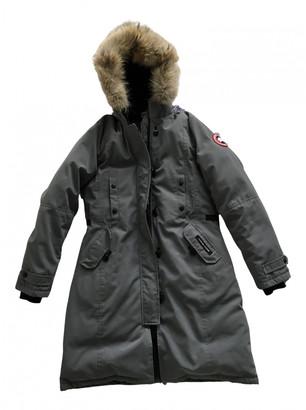 Canada Goose Kensington Grey Fur Coats