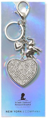 New York & Co. Silvertone Pave Keychain - St. Jude Collection