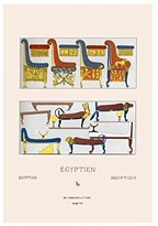 """Buyenlarge """"Egyptian Furniture - Beds, Couches, And Thrones"""" Print (Unframed Paper Print 20x30)"""