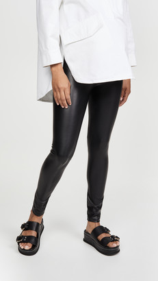 David Lerner Maternity Vegan Leather Leggings