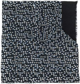 Altea houndstooth patterned frayed edge scarf