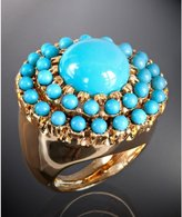 turquoise resin round cocktail ring