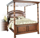 Cindy Crawford Home Key West Dark Pine Canopy 4 Pc King Bed