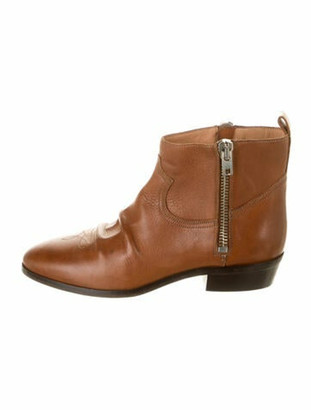 Golden Goose Leather Distressed Accents Boots Brown