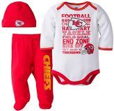 Baby Kansas City Chiefs 3-Piece Bodysuit, Pants & Cap Set