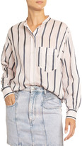 Etoile Isabel Marant Satchell Striped Cotton-Silk Shirt