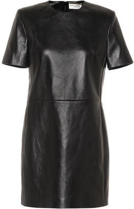 Saint Laurent Leather minidress
