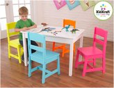 Kid Kraft Highlighter Table and 4 Chair Set - Multi Color
