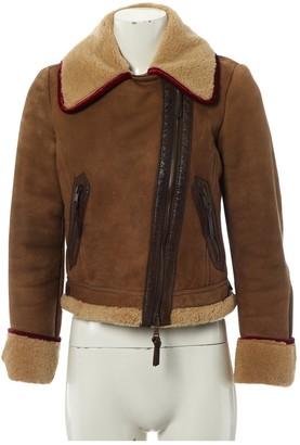 Etro Beige Shearling Coats