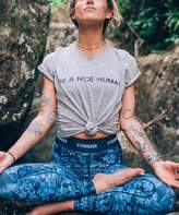 Life Clothing Co. LIFE Clothing Co. Women's Tee Shirts Heather - Heather Gray 'Be A Nice Human' Crewneck Tee - Women