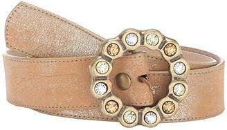 Leather Rock Felicia Belt (Washed Gold) Women's Belts