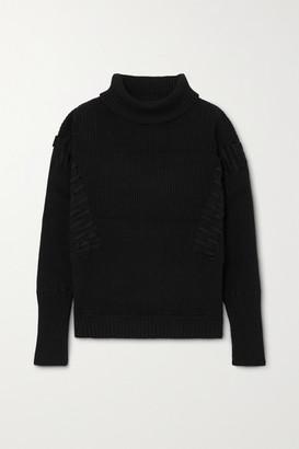 Palmer Harding Ateli Ribbed Cotton And Cashmere-blend Turtleneck Sweater