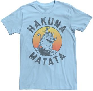 Disney Men's The Lion King Timon & Pumba Hakuna Matata Lifestyle Tee