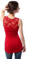 Lace Jersey Side Ruched Tunic