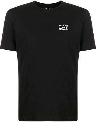 Emporio Armani Ea7 logo print crew neck T-shirt