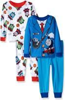 Thomas & Friends Thomas the Train Toddler Boys' 4-Piece Cotton Pajama Set