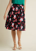 Hell Bunny Sophistication on Standby A-Line Midi Skirt in L - Full Skirt by Hell Bunny from ModCloth