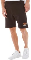 Umbro Mens Sweat Shorts Black/Orange Pop/White