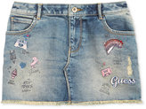 GUESS Embroidered Denim Skirt, Big Girls (7-16)