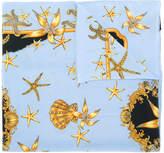 Versace Sea print design scarf