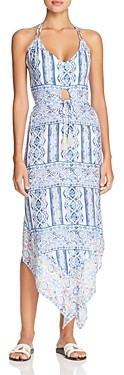 Surf.Gypsy Pop Border Print Halter Dress Swim Cover-Up