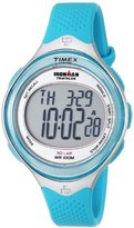 Timex Women's T5K602 Ironman Classic 30 Mid-Size Sea Blue Resin Strap Watch