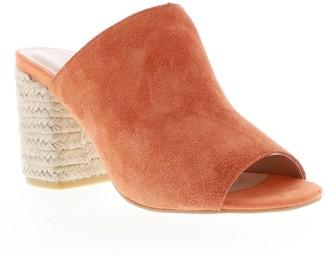 Sbicca Raffia Heeled Leather Slip-On Sandals- Bussey
