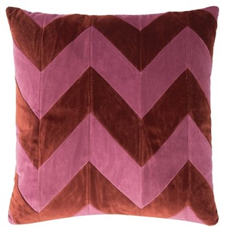 Christina Lundsteen - Zigzag Cotton-velvet Cushion - Red Multi