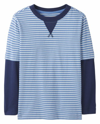 Moon and Back by Hanna Andersson Boys' Big Long Sleve Faux Layered Tee