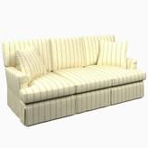 "Annie Selke Home Saybrook 80"" Recessed Arm Sofa Fabric: Glendale Stripe Light Blue/Natural"