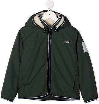 Molo Winner shearling hooded jacket