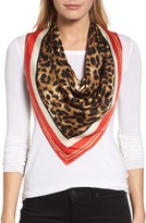 Vince Camuto Women's Racing Leopard Silk Square Scarf